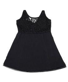 Nappy Monster Lace & Crepe Dress - Black