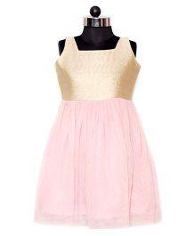 Nappy Monster Net Dress - Pink & Golden