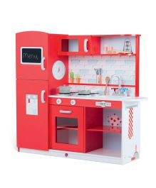 Plum Terrace Wooden Kitchen Set - Red