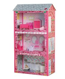 Plum Plaza Wooden Doll House - Multicolor