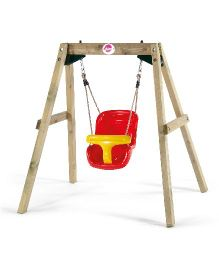 Plum Wooden Baby Swing Set - Multicolor