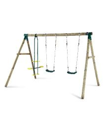 Plum Colobus Wooden Garden Swing Set - Multicolor