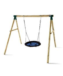 Plum Spider Monkey II Wooden Garden Swing Set - Multicolor