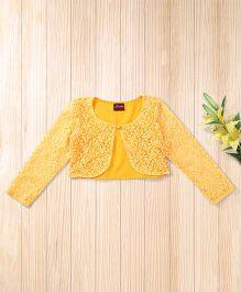 Twisha Beautiful Lace Shrug - Mango