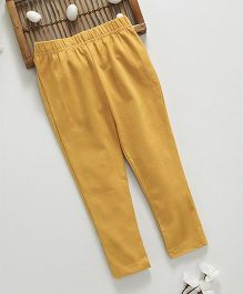 ToffyHouse Full Length Leggings Solid Color - Yellow
