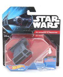 Hot Wheels Star Wars Die Cast Tie Advanced Prototype - Gray