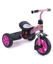 Baby Musical Tricycle With Foot Board - Pink Black