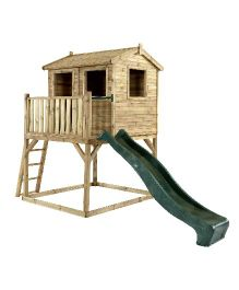 Plum Premium Wooden Adventure Playhouse - Brown Green