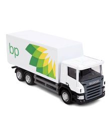 RMZ Scania BP Container Truck Toy - White