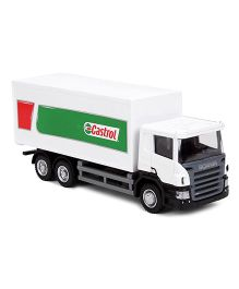 RMZ Scania Castrol Container Truck Toy - White