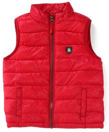 Mothercare Sleeveless Padded Jacket - Red