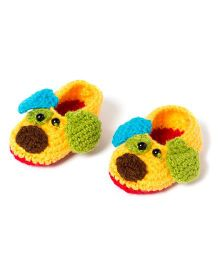The Original Knit Lil Puppy Knitted Booties - Multicolour