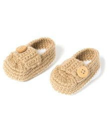 The Original Knit Crochet Booties - Beige