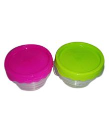 Ez Life 3 Round Plastic Medium Storage Containers - Multicolour