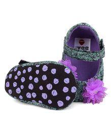 Ivee Baby Anti Skid Soft Sole Booties - Purple