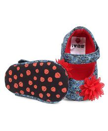 Ivee Baby Anti Skid Soft Sole Booties - Red