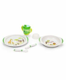 Chicco Meal Set Green - 5 Pieces