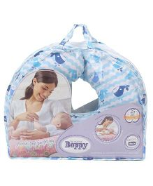 Chicco Boppy Pillow Cotton Whales Print - Blue