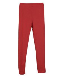 Lilliput Kids Plain Solid Color Leggings - Red