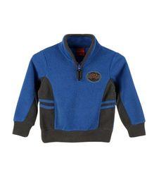 Lilliput Kids Full Sleeves Snuggle Neck Jersey - Blue & Grey