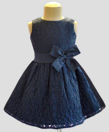 A.T.U.N Lace Overlay Dress - Navy Blue