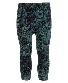 Earth Conscious Organic Cotton Leggings With Abstract Print - Green