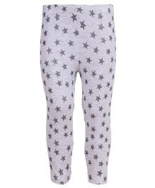 Earth Conscious Organic Cotton Leggings With Star Print - Off White