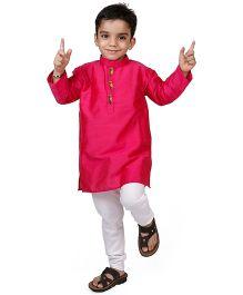 Raghav Kurta & Pyjama Set - Dark Pink