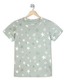 Raine And Jaine Star Print Boys T-Shirt - Steel Grey