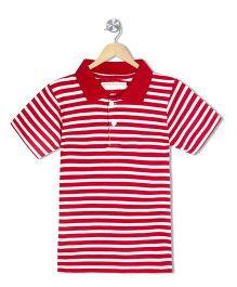 Raine And Jaine Boys Polo T-Shirt - Red & White