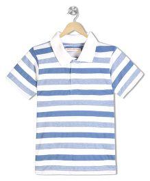 Raine And Jaine Boys Polo Tshirt - Blue & White