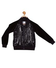 612 League Full Sleeves Jacket With Sequins - Black