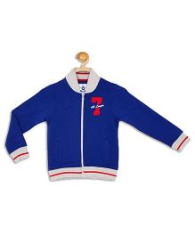 612 League Full Sleeves Jacket 7 Applique - Blue