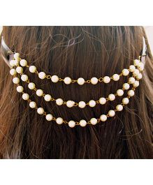 Pretty Ponytails Pearl Hair Clip - Golden