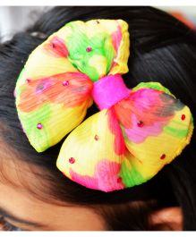 Pretty Ponytails Sunny Bloom Chiffon Hair Band - Yellow & Pink