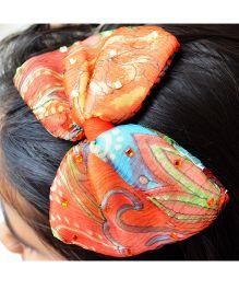Pretty Ponytails Garden Chiffon Hair Band - Orange