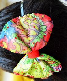 Pretty Ponytails Garden Chiffon Hair Band - Green