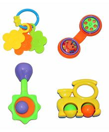 Mamaboo Rattle Set Multicolor - 4 Pieces