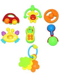 Mamaboo Rattle Set Multicolor - 7 Pieces