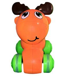 Mamaboo Push Down And Chase Animals Toy - Orange