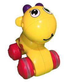 Mamaboo Push Down And Chase Animals Toy - Yellow