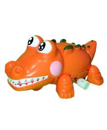 Mamaboo Wind Up Bath Toys Crocodile - Orange