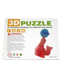 Mamaboo Wooden 3D Animal Puzzle Dolphin Pink - 7 Pieces