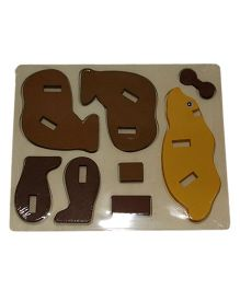 Mamaboo Wooden 3D Animal Puzzle Bear Brown - 8 Pieces