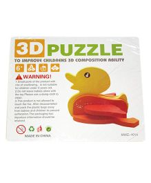 Mamaboo Wooden 3D Animal Puzzle Duck Multicolor - 6 Pieces