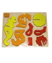 Mamaboo Wooden 3D Animal Puzzle Lion Multicolor - 9 Pieces