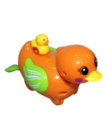 Mamaboo Wind Up Bath Toy Duck With Duckling - Orange