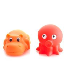 Mamaboo Dinosaurs Squeeze Bath Toys Red Orange - Pack Of 2