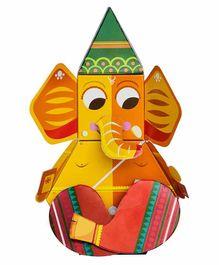 Toiing DIY 3D Paper Ganpati - Multicolor