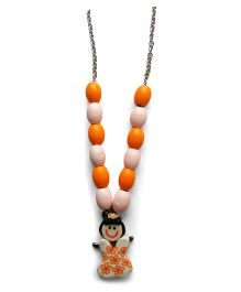 Milonee Beads Necklace With Doll - Orange